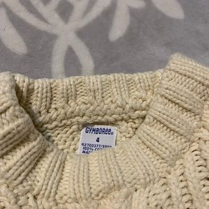 Gymboree cable knit sweater